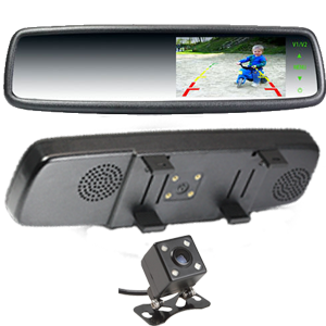 4.3`` Rearview Mirror Monitor Clip Over Type