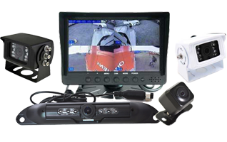 "RS 7"" QUAD Dash Mount Reversing 4 Camera System"