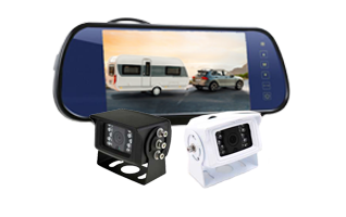 RS 7″ Reversing Mirror 2 Cameras Kit