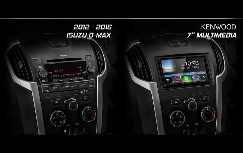 Before and After Isuzu-D-Max-Kenwood-7-Inches-Multimedia Stereo Upgrade