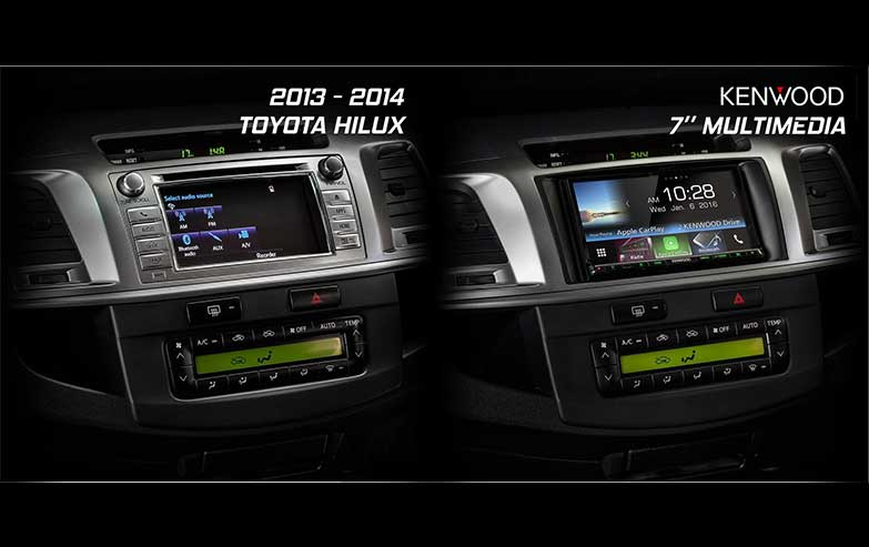 Before and After Toyota-Hilux-2013-2014 Stereo Upgrade