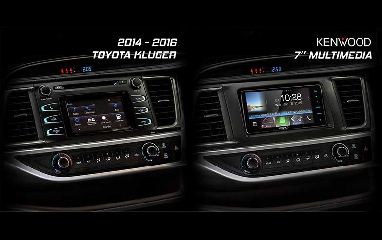 Before and After Toyota-Kluger-2014-2016-Kenwood-7-Inches-Multimedia Stereo Upgrade