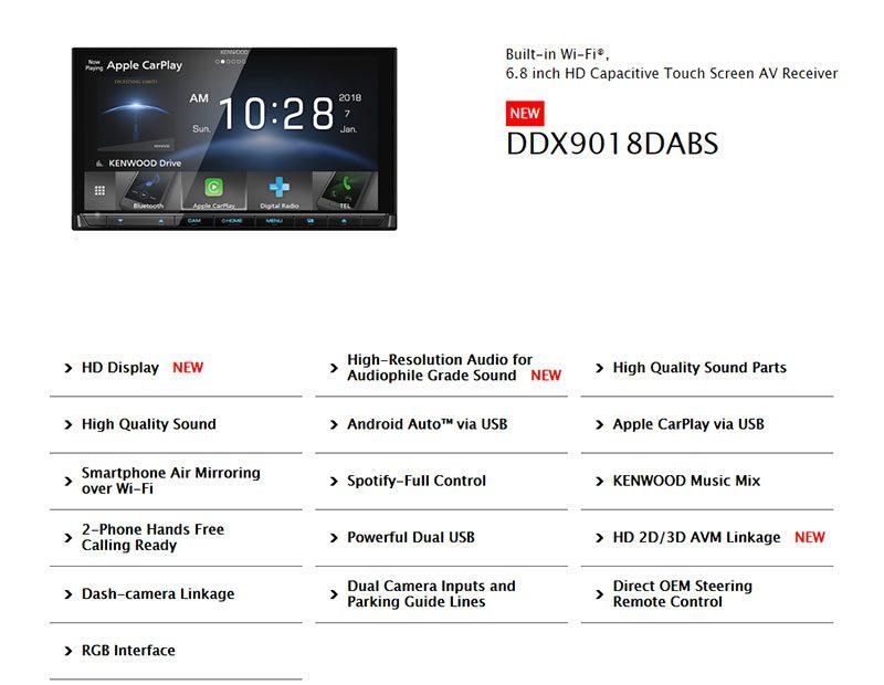 KENWOOD-DDX9018DABS-Spec