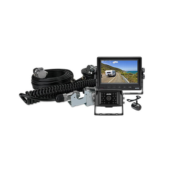 "AXIS 5"" HEAVY DUTY LED MONITOR WITH 2 CAMERA CARAVAN KIT"