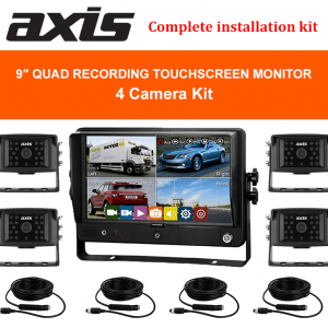9inch QUAD RECORDING TOUCHSCREEN MONITOR-4 Camera Kit-RS