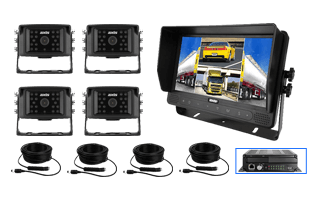 """Main-RS-AXIS-9"""" QUAD VIEW LCD TOUCH SCREEN MONITOR DVR with WI-FI-GPS 4 Camera Kit"""