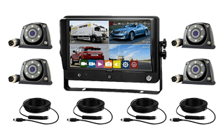 RS-Axis 9inches Quad Recording Touchscreen Monitor C40 4 Camera Kit
