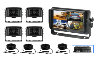 RS-Main-Axis 10.1inches QUAD HD TOUCH-SCREEN MONITOR DVR with WI-FI-GPS 4 Camera Kit