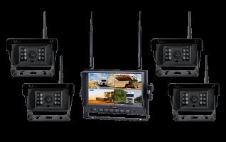 RS-AXIS 7″ HEAVY DUTY WIRELESS REVERSING SYSTEM 4 CAMERAS-main