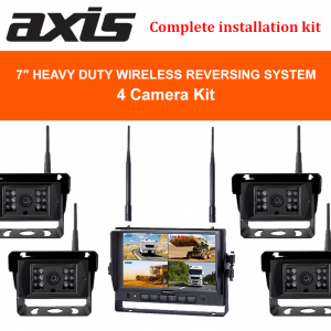 RS-Axis 7-inches Heavy Duty Wireless Reversing System 4 Cameras