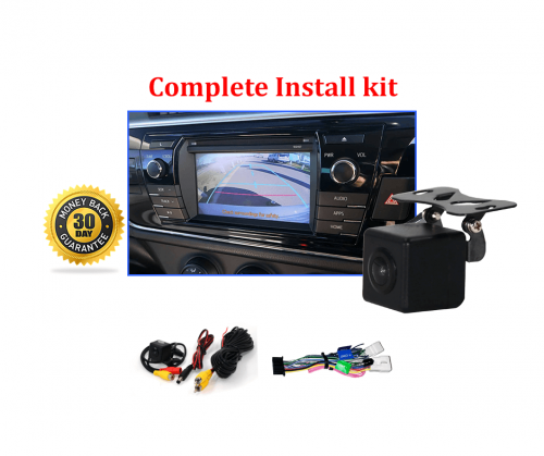 RS-Reverse Camera NTSC Kit for Toyota Corolla Sedan OEM Factory Screen 2013 to 2016